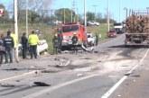 Una familia argentina falleció en choque frontal cerca de accesos a Paysandú