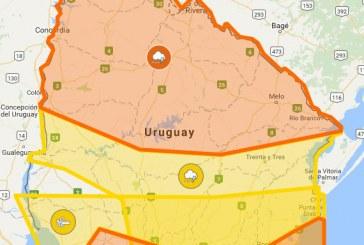 Alerta naranja para el norte del país incluyendo a Paysandú
