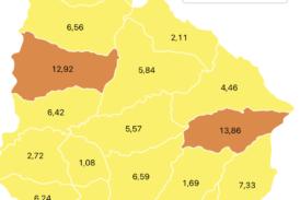 Coronavirus: 12 casos nuevos y 28 recuperados en Paysandú. Hubo un fallecimiento