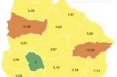 Coronavirus: 17 casos nuevos y 7 recuperados en Paysandú. Hay 156 casos activos en el departamento