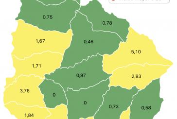 Coronavirus: Un caso nuevo y tres recuperados en Paysandú. Nueve departamentos en verde